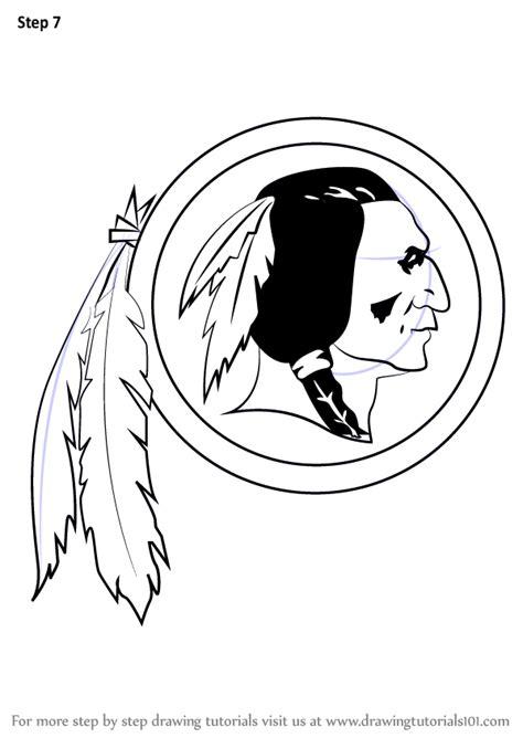 learn   draw washington redskins logo nfl step  step drawing tutorials