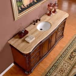 72 inch wide travertine top large single sink bathroom