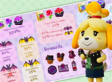 animal crossing pocket camp gothic event infographic