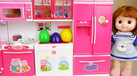 Baby Doli And Kitchen Toys Baby Doll Surprise Eggs Play
