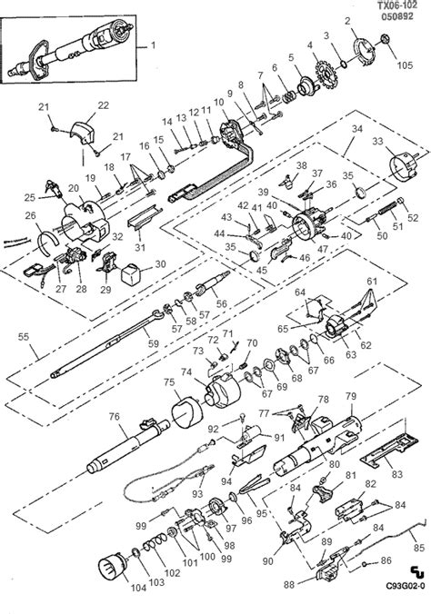 Chevy Steering Column Wiring Diagram by Chevy S10 Steering Column Wiring Diagram Auto Electrical
