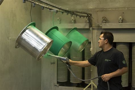 coating powder metal process finishing polyester epoxy thermosetting painting system
