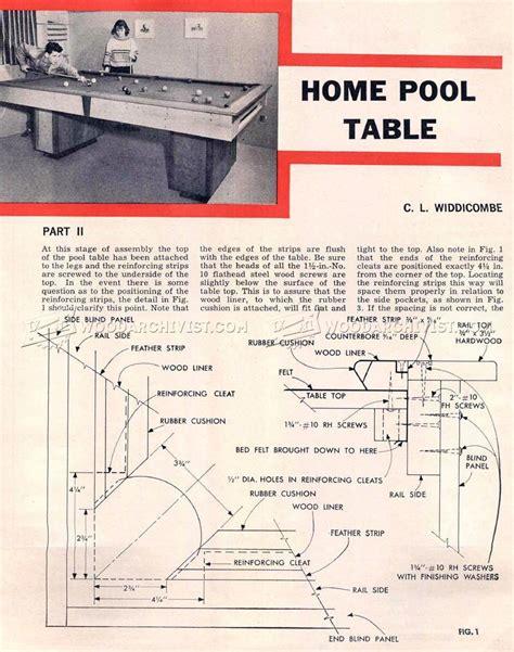 pool table design plans diy pool table woodarchivist