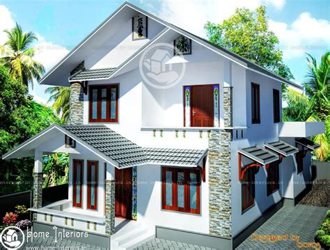 home designers double floor beautiful kerala home design plan