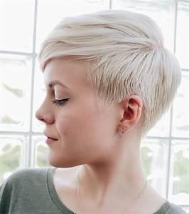 Coiffure Blonde Courte : coiffure courte blonde platine ~ Melissatoandfro.com Idées de Décoration