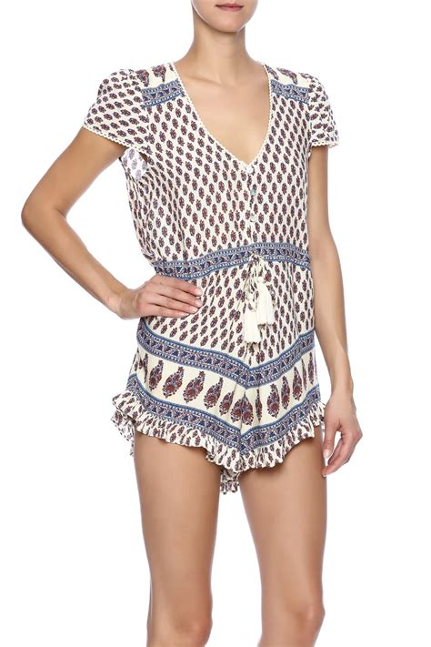 cotton dressed romper from miami by secret