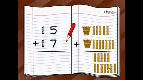 maths  digit addition  carryover english youtube