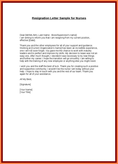 resignation letter examples   month notice notice letter