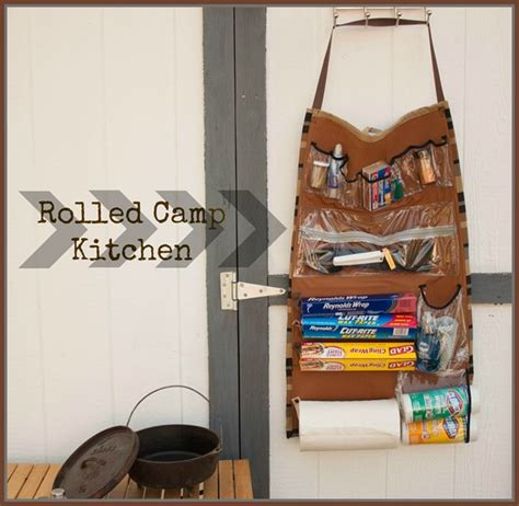 Howto Rolled Camping Kitchen Organizer  Make