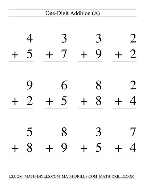 single digit addition  regrouping   page