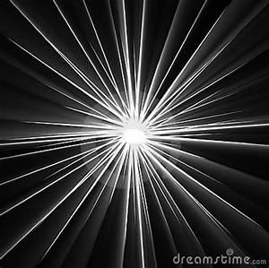 Beams Of Light Rays On Black Stock Photos