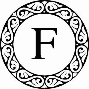letter f monogram clip art at clkercom vector clip art With letter f monogram