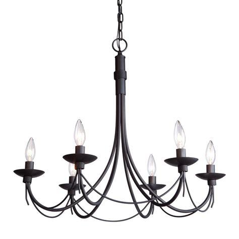 black iron pendant light shop artcraft lighting wrought iron 26 in 6 light ebony