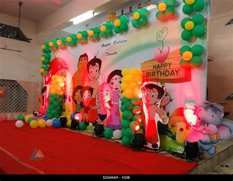 chota bheem themed birthday decoration  kottakuppam
