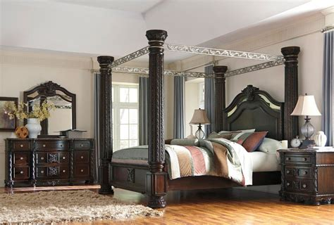 King Size Bedroom Sets In Canada by Furniture Laddenfield Canopy Bedroom Set Bedroom