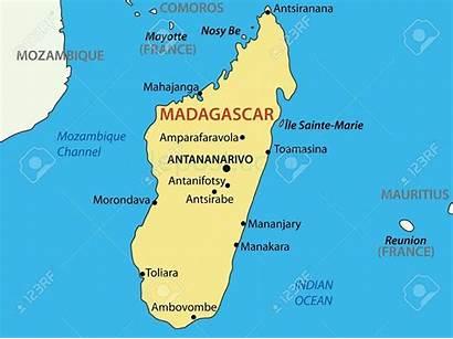 Madagascar Map Island Vector Reunion Republic Candidates