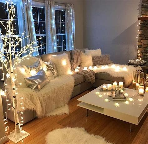 fairy lights ideas   house   living room