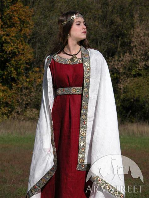 medieval flax linen western dress costume  sale