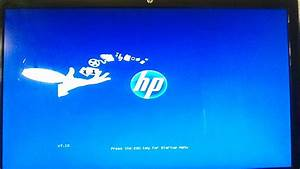 Press the ESC key for startup menu freezes on hp h8-1260t ...