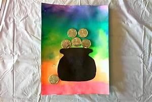 St. Patrick's Day Craft for Kids. Beautiful Rainbow Art Craft.