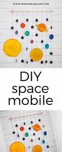 DIY Space Mobile Craft - Honeybear Lane