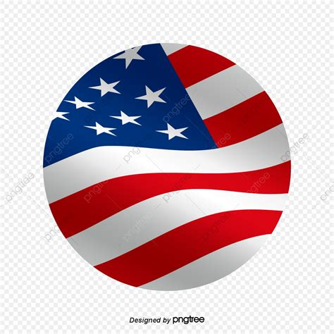 The original size of the image is and the original resolution is 300 dpi. The American Flag Flying With The Wind In A Cartoon Circle ...