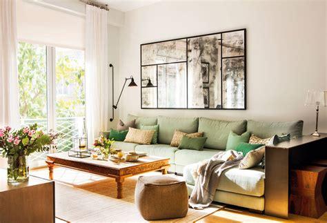sofa verde para salon 4040 fotos de salones