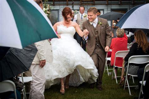 gorgeous backyard wedding in spite of rain