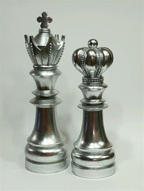 Chess Decorative Pieces King Queen Collectible Library