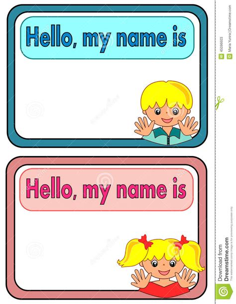 tag  kids stock vector image