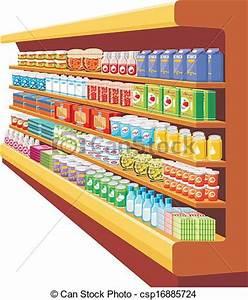 Vector Illustration of Supermarket. vector csp16885724 ...