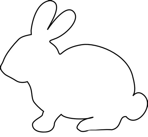 Bunny Rabbit Templates Free by Easter Bunny Rabbit Template Clipart Best