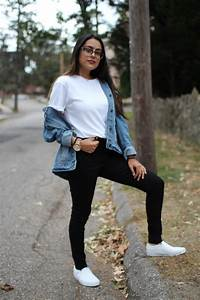 Embroidered Jacket Outfit on Campus - College Fashion