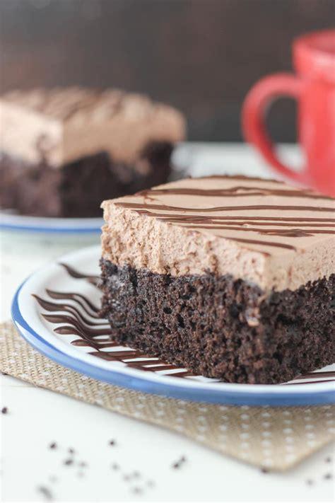 hot chocolate poke cake chocolate chocolate