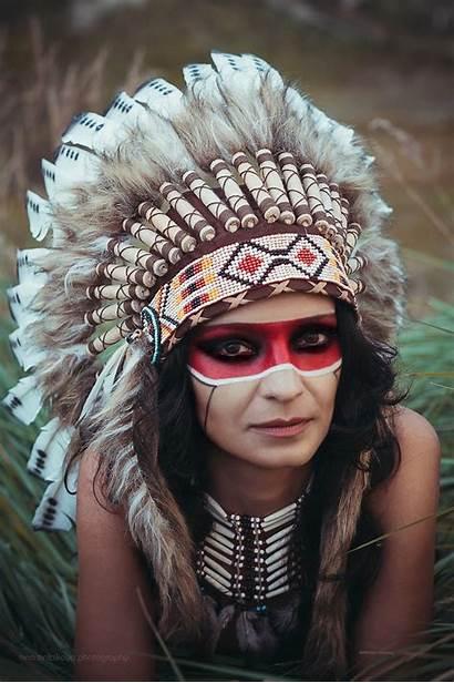 Indian Native Wild American Indios Penachos Portrait