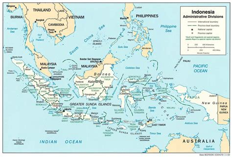 indonesia adminstrative districts mapsofnet