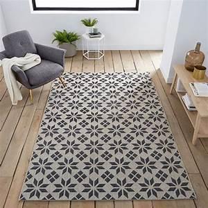 Tapis Vinyl Salon : tapis tiss plat carreaux de ciment iswik deco appart ~ Melissatoandfro.com Idées de Décoration