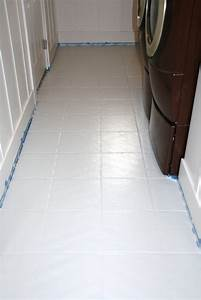 How to paint tile floors a tutorial love stitched for Painting shower floor tiles