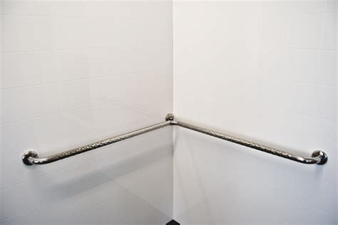 stainless steel corner shower safety rail superquip