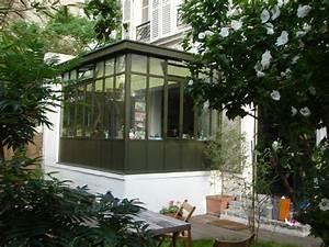 Veranda Style Atelier : veranda en acier atelier d 39 artiste equilibre facade pas heureux forte ma onnerie structure ~ Melissatoandfro.com Idées de Décoration