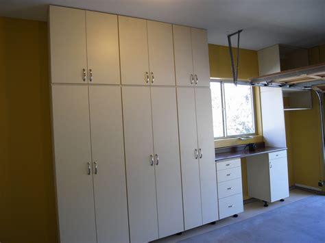 Garage Storage Cupboards by Garage Cabinets Closets Plus