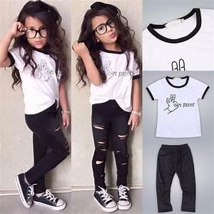 2pcs Toddler Kids Baby Girls T-shirt Tops+Long Pants ...
