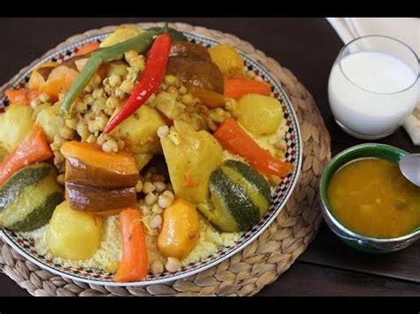 cuisine marocaine couscous recette de couscous aux légumes couscous with vegetables