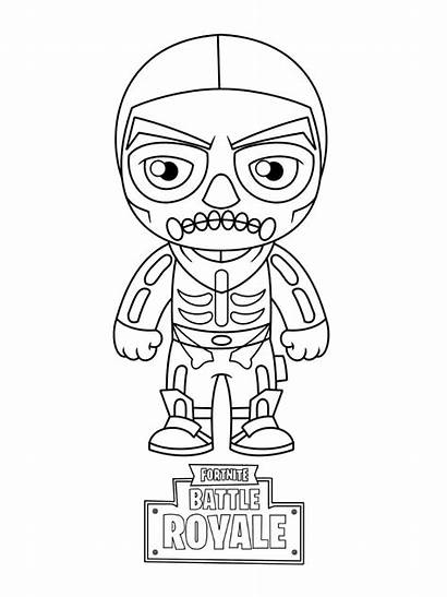 Fortnite Coloring Pages Skull Sheets Trooper Printable