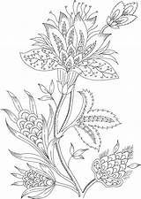 Coloring Pages Adults Flower sketch template
