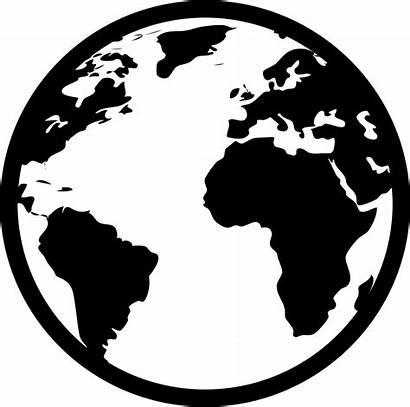 Globe Continent Silhouette Svg Icon Clipart Map