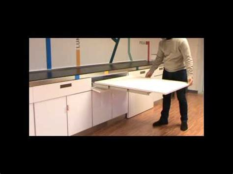 atim lunch pull  drawer table youtube