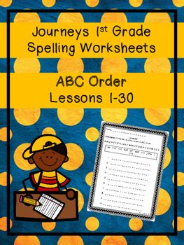 journeys st grade spelling worksheets abc order