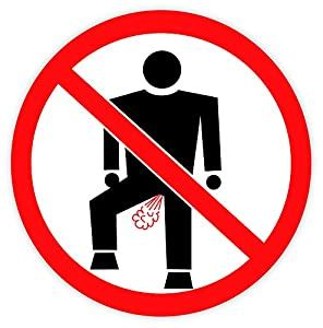"Amazon.com : No Farting sign sticker decal 4"" X 4"