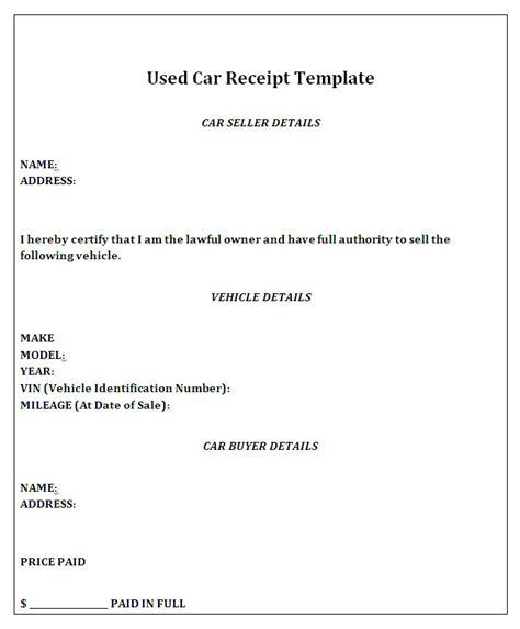 private car sale receipt template free barbara bermudo h